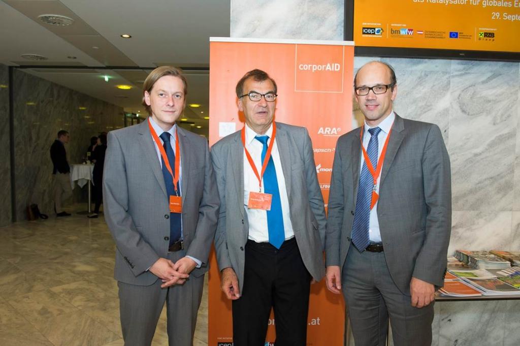 Von links: Rene Matsche (voestalpine), Bruno Hribernik (ASMET), Bernhard Weber (ICEP/corporAID)