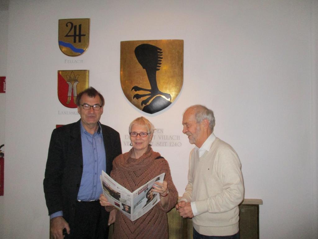 Bruno Hribernik mit Dr.Jill Jäger und Dr.Fredy Jäger