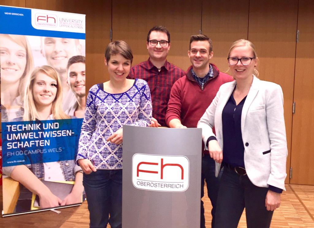 Bild des neuen Vorstands v.l.n.r.: Katharina Steineder, Martin Schnall, Manuel Molnar, Sabrina Lang