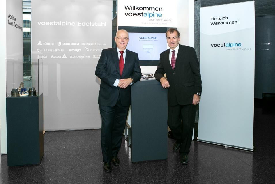 Die Gastgeber: Franz Rotter und Bruno Hribernik
